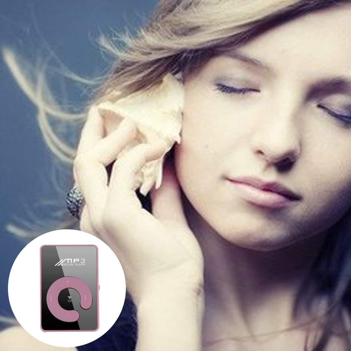 Zinniaya Mini Clip port/átil USB Reproductor de MP3 Soporte para Medios Musicales Tarjeta Micro SD TF Moda de Alta fidelidad MP3 para Deportes al Aire Libre