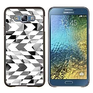 For Samsung Galaxy E7 E7000 - Chessboard Abstract Checkered Lines /Modelo de la piel protectora de la cubierta del caso/ - Super Marley Shop -