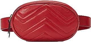 liyuan Fashion Lady Bag Mini Tasche PU Brieftasche samt Brusttasche Handy Taille Tasche (Black)