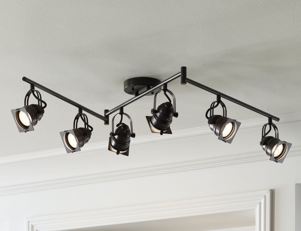 Hamilton 6Light Swing Arm Bronze LED Track Fixture Amazoncom