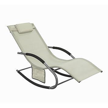 SoBuy® OGS28-MI Fauteuil à Bascule Chaise Longue Transat de Jardin ...