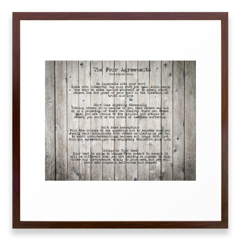 Amazon Society6 The Four Agreements Framed Print Conservation