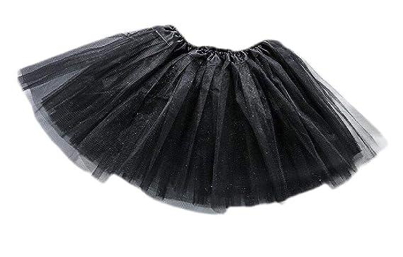 GLORYA - Faldas de Tul Acampanadas para niñas - Negro - Talla ...
