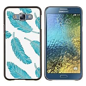 - eye bird animal nature fur feathers - - Modelo de la piel protectora de la cubierta del caso FOR Samsung Galaxy E7 E7000 RetroCandy