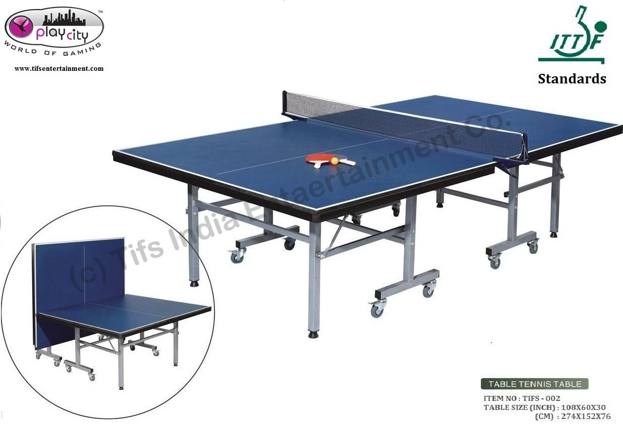 Buy Play In The City TT Table Tennis Table  Design U0026 Manufactured As Per  ITTF Standards Online At Low Prices In India   Amazon.in