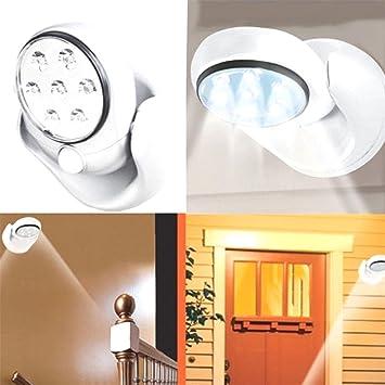 Amazon.com : Adjustable LED Motion Light Activated Sensor Indoor ...