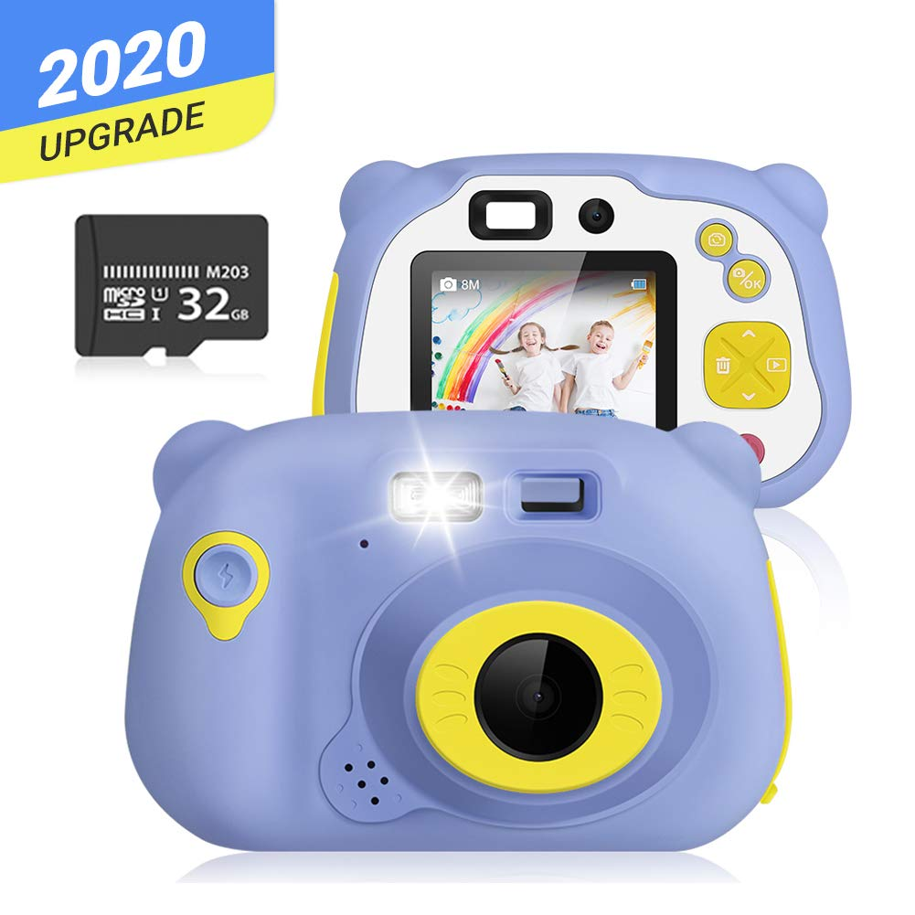 Kids Camera, Digital Camera for Kids 1080P HD Shockproof Camera 2.0 Inch Camera Gifts for Kids, Kids Video Camera with 32 GB Memory Card, Mini Kids Camera Rechargeable Kids Camera for Outdoorplay
