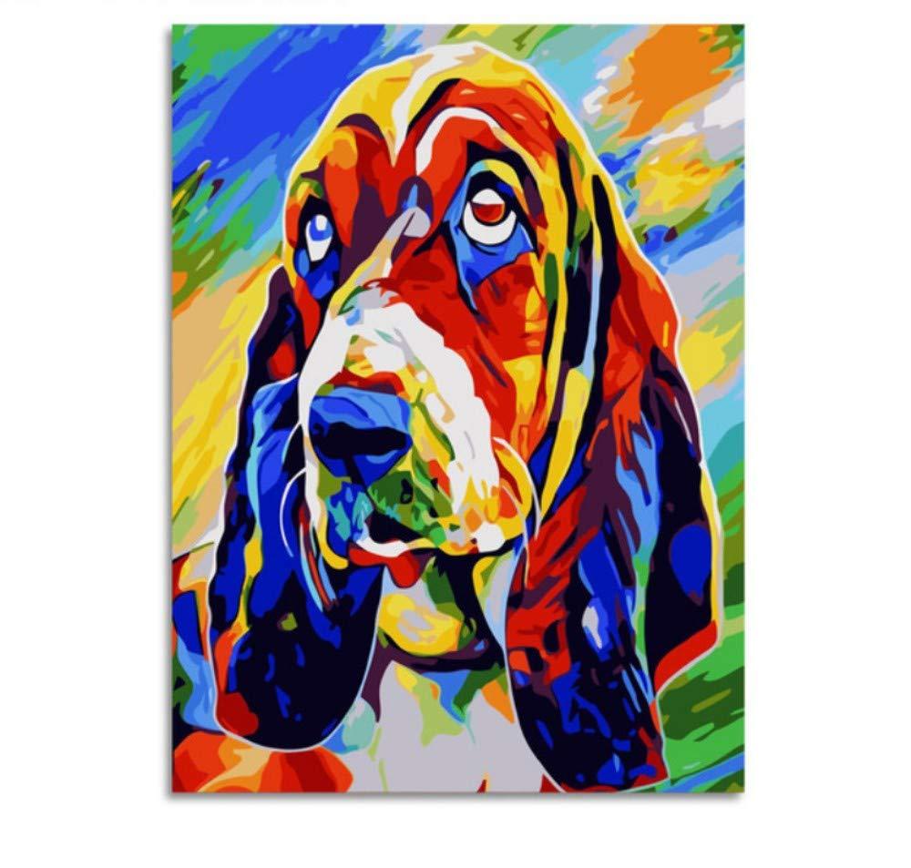 Colorido Perro Animales Animales Animales Pintura Abstracta Diy Pintura Digital Por Números Moderno Imagen De Arte De Pared Para El Hogar Arte De Pared 022897