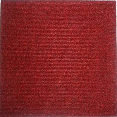 "Carpet Tiles Self Stick 12"" (144 Sq. Ft.) Red"