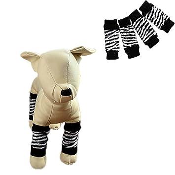 Calcetines hunpta para mascota con patrón de cebra, antideslizantes: Amazon.es: Productos para mascotas