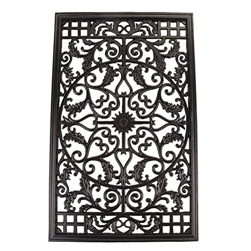 Nuvo Iron Rectangular Decorative Insert For Fencing, Gates, Home, Garden, ACW61 (Fence Aluminum Decorative)