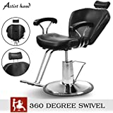 Artist Hand Hydraulic Reclining Barber Chair 360 Degrees Rolling Swivel Barber Chairs Hair Salon Spa Equipment