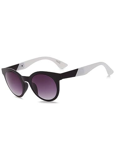 oodji Ultra Mujer Gafas de Sol con Varillas de Dos Colores, Negro