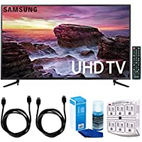 Samsung UN58MU6100 - 58-inch Smart MU6100 Series LED 4K UHD TV w/ Wi-Fi + Accessories Bundle Includes, 2x 6ft. HDMI Cable, SurgePro 6-Outlet Surge Adapter w/ Night Light & Screen Cleaner For LED TVs