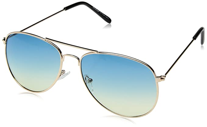 b9b875f2cb Amazon.com  A.J. Morgan Skye Aviator Sunglasses Gold Blue 56 mm ...
