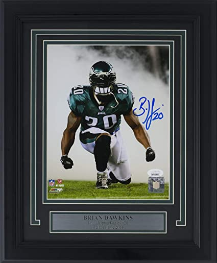 low priced 4159c cc716 Brian Dawkins Signed Framed Philadelphia Eagles 8x10 Photo JSA