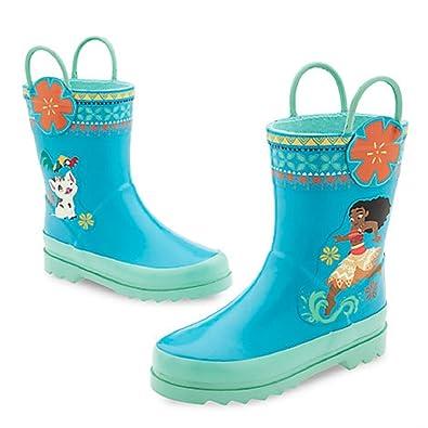 Amazon.com | DISNEY STORE MOANA RAIN BOOTS - BLUE (7) | Rain Boots