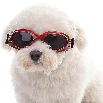 miju Gafas de Sol para Mascotas, UV Gafas Protectoras para Gatos o Perros Pequeños, Gafas de SeguridadPlegable Portátil con Forma de Corazón A Prueba De ...