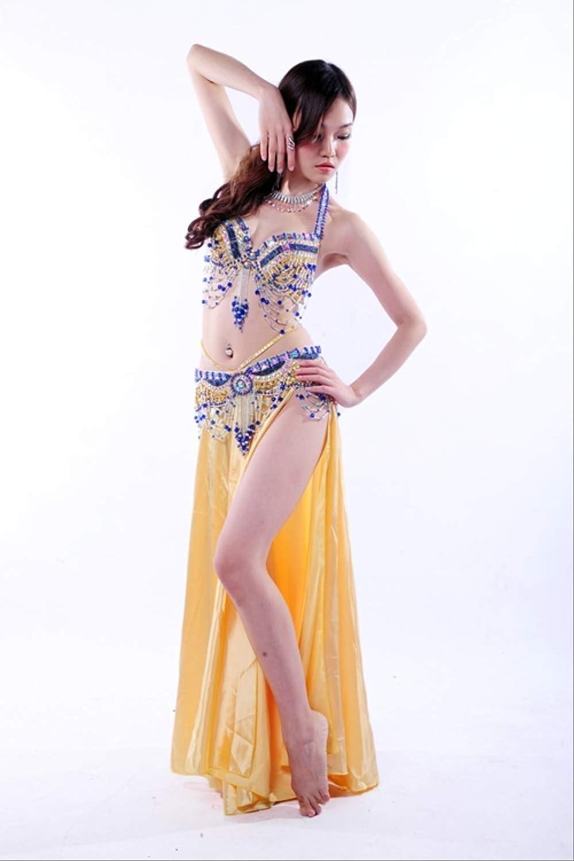KLMWDDPWY Danza del Vientre Mujer Performance 10 Colores Ropa para ...