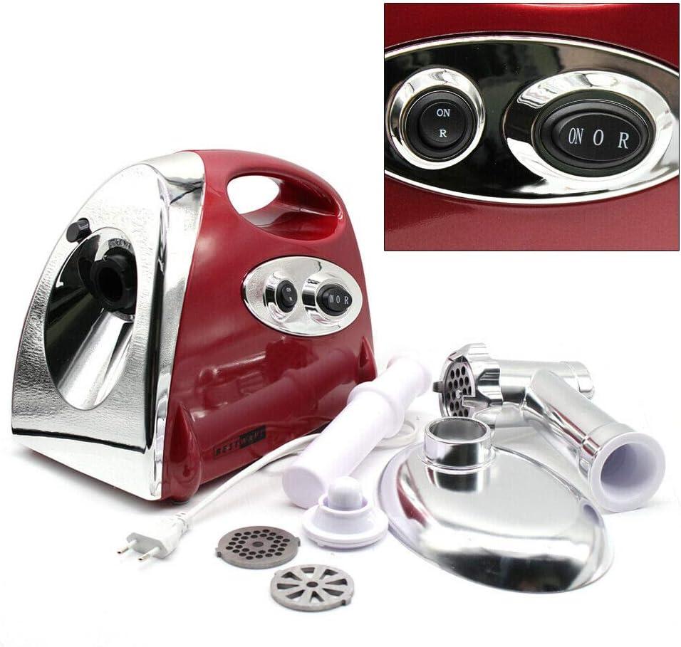 Jintaihua Hachoir /à viande /électrique en acier inoxydable 2800 W avec 3 disques perfor/és Rouge