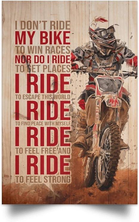 Amazon Com Biker I Don T Ride My Bike To Win Races Gallery