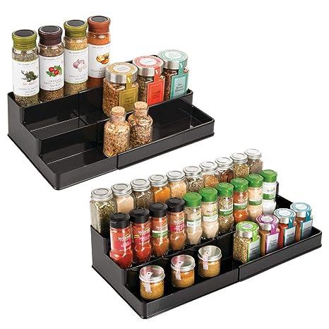 mDesign Plastic Adjustable Expandable Kitchen Cabinet Pantry Shelf Organizer/Spice Rack with  sc 1 st  Amazon.com & Amazon.com: mDesign Plastic Adjustable Expandable Kitchen Cabinet ...