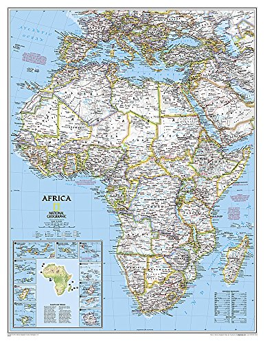 National Geographic: Africa Classic Enlarged Wall Map - Laminated (35.75 x 46.25 inches) (National Geographic Reference Map)