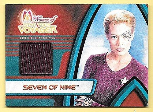 Seven Nine Costume (2001 Women Of Star Trek Voyager Archives #F1 Seven Of Nine Costume Relic Card)