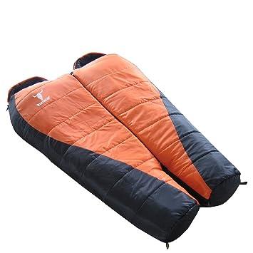 pyage (TM) al aire libre Camping doble de fibra hueca capas plegable adultos saco