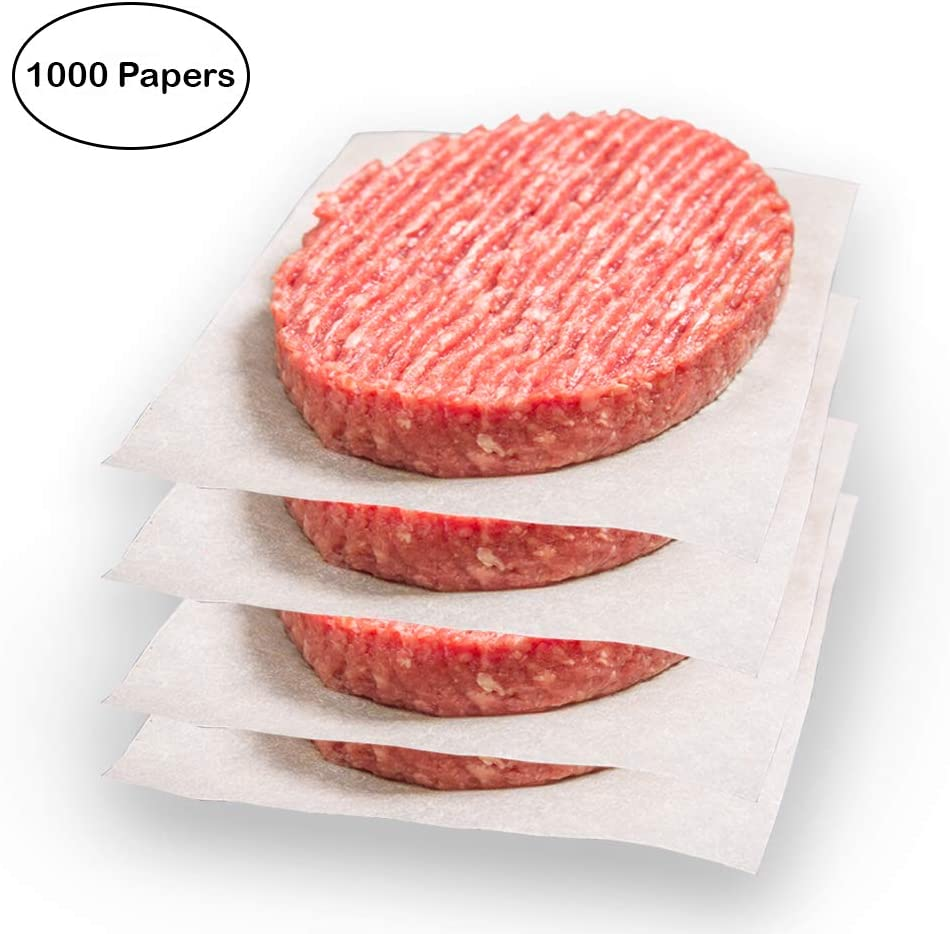 Netko Waxed Patty Paper Sheets – 1000 Non-stick Precut Hamburger Sheets | Restaurant-Grade Square Parchment Paper Set 6x6