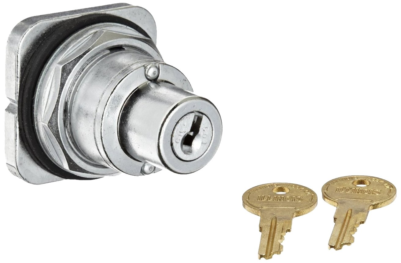 Siemens 52SC6AE Heavy Duty Key Operated Selector Switch, Water and Oil Tight, 2 Positions, Maintained Operation, Right and Left Key Removal Position, 501CH Lock Number, A Cam Code
