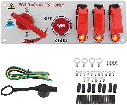 Dewin Schalter 12v Ignition Toggle 12v Racing Car Ignition Panel Schalter Motor Starten Led Taste Toggle Panel Drücken Auto