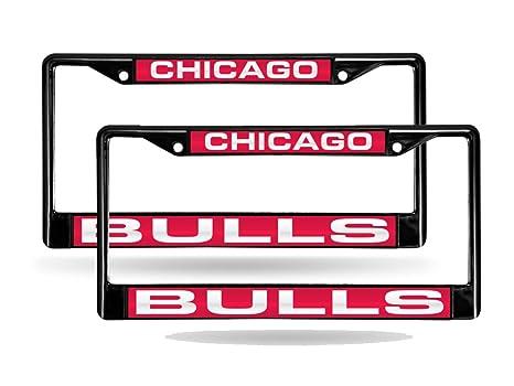 Amazon.com: Rico Chicago Bulls NBA Black Metal (2) Laser License ...