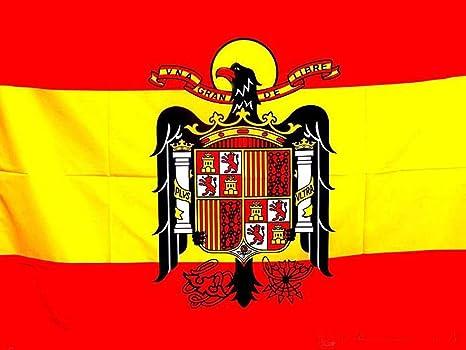 Tiendas LPG - Bandera de ESPAÑA Escudo Águila de San Juan, 138 x 89 cm.: Amazon.es: Jardín