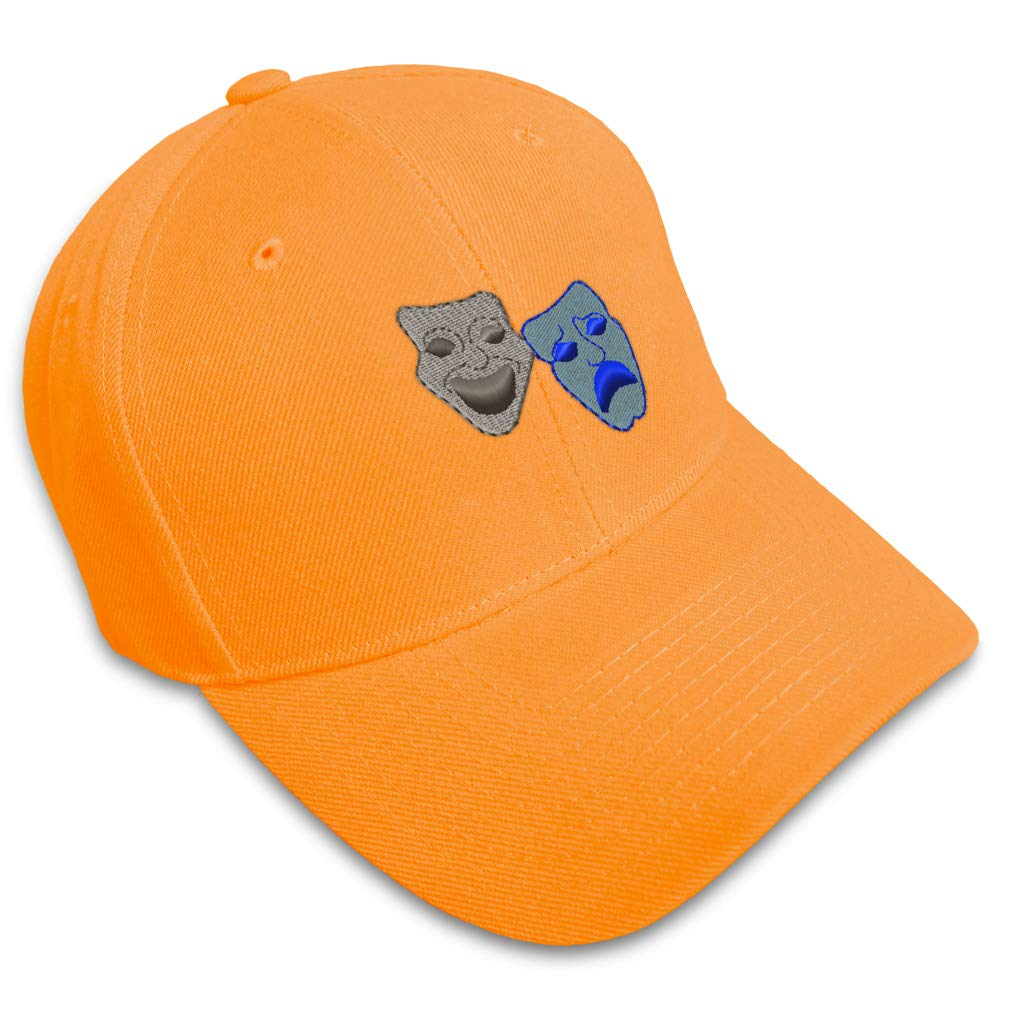 Custom Baseball Cap Comedy and Tragedy Embroidery Dad Hats for Men /& Women