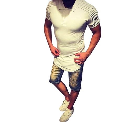 Camiseta Tops de los Hombres Manga Corta Delgado Ropa de Deportes,SonnenaLa Moda de los