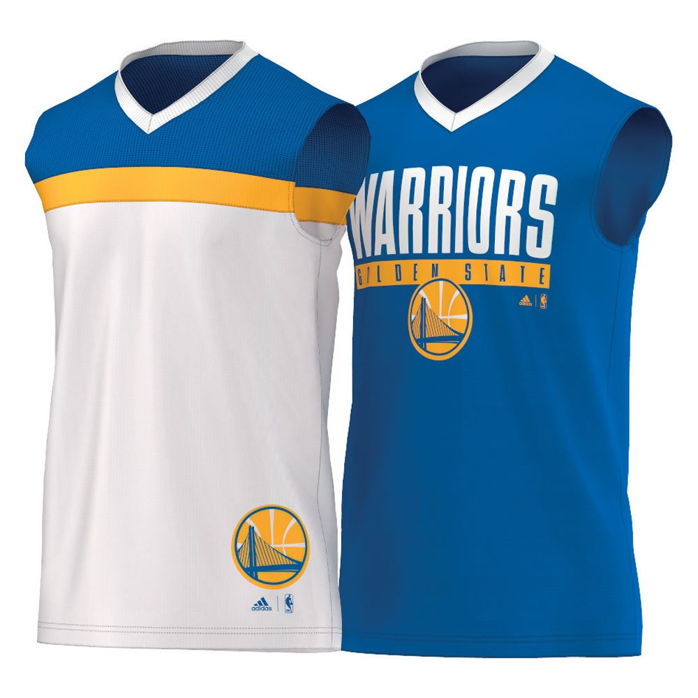 ADIDAS Golden State Warriors basketball winter hoops reversible jersey AX7680