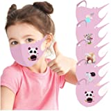 VIVIYY Cute Cartoon Printed Kids Girls Boy Child Reusable Breathable Cycling Washable Cloth Mouth Ice Silk Face_Mask 5PC