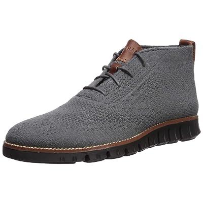 Cole Haan Men's Zerogrand Stitchlite Chukka Boot, Magnet Wool/Black, 10.5 M US | Chukka