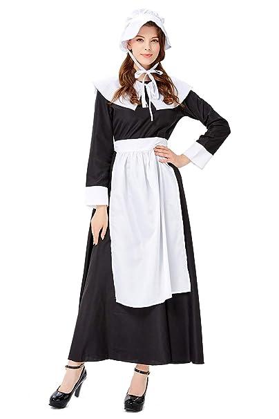 Amazon.com: Disfraz victoriano para mujer con delantal: Clothing