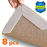 #6: Rug Grippers X-PROTECTOR – Best 8 pcs Anti Curling Rug Gripper. Keeps Your Rug in Place & Makes Corners Flat. Premium Carpet Gripper with Renewable Gripper Tape – Ideal Anti Slip Rug Pad for Your Rugs