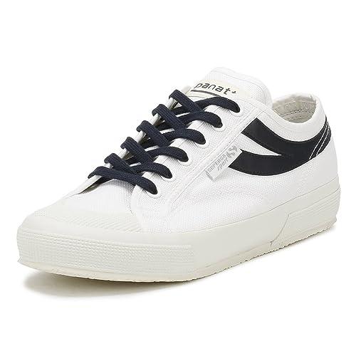 Superga Hombres Blanco/Azul Marino 2750 COTU Panatta Zapatillas-UK 10.5: Amazon.es: Zapatos y complementos