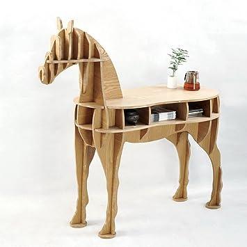 Yunno bureau en bois en forme de cheval