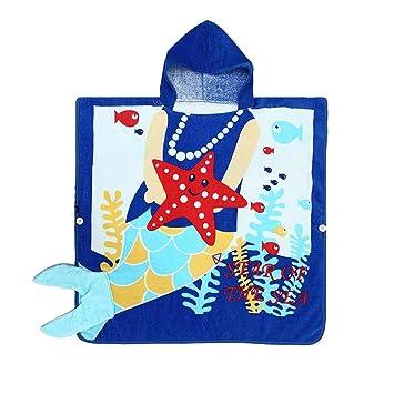 JIAN YA NA Niño Poncho con capucha Baño Toalla con capucha Toalla de baño Toalla Toalla Baño lindo Baño albornoz Toallas de playa para niños 0-6 años Bebé ...