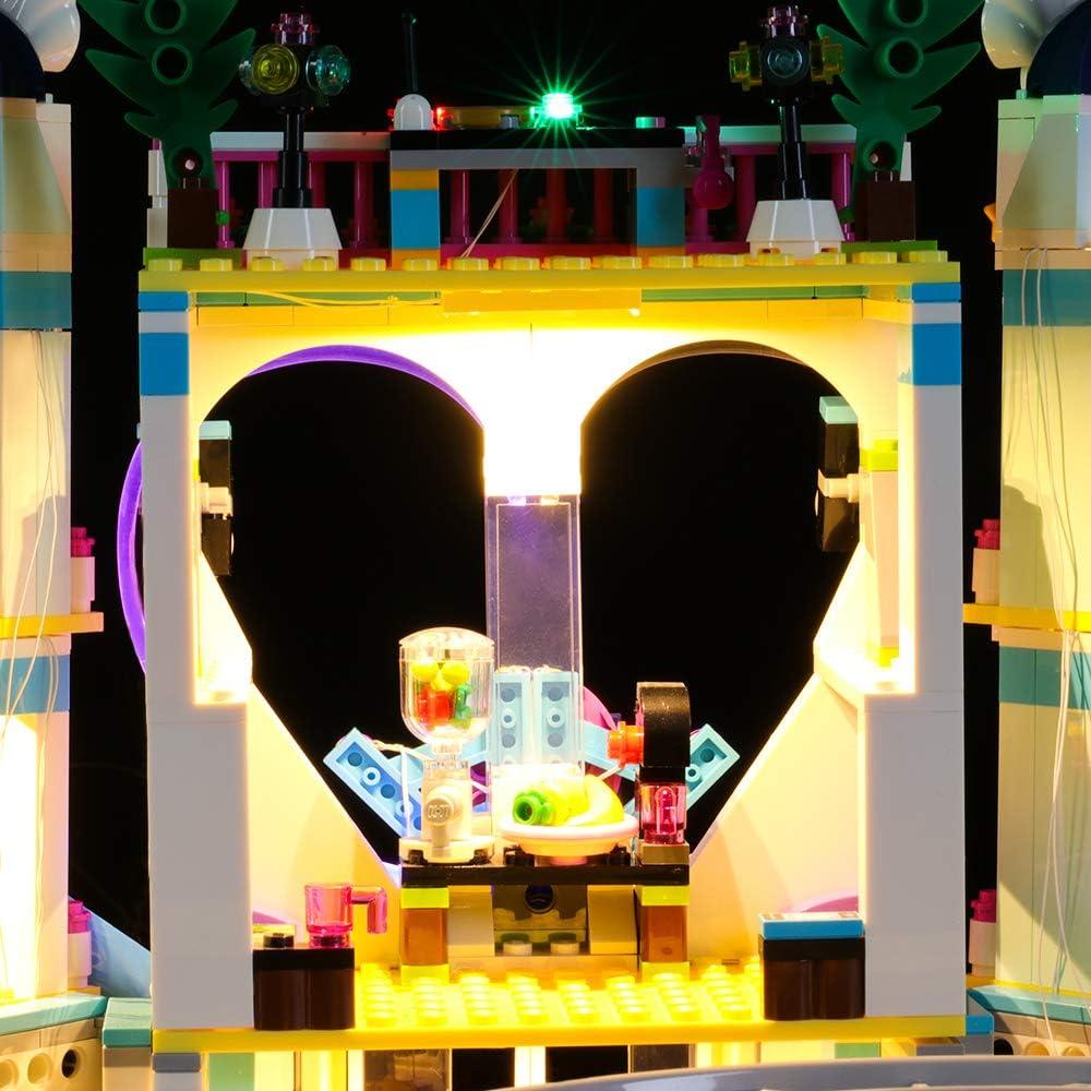 NOT Included The Model LIGHTAILING Light Set for Friends Heartlake City Resort Building Blocks Model Led Light kit Compatible with Lego 41347