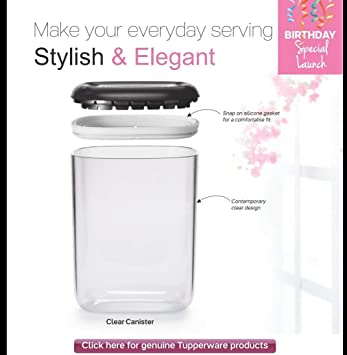 Buy Tupperware Canister Set 3 Pieces White Online At Low Prices In