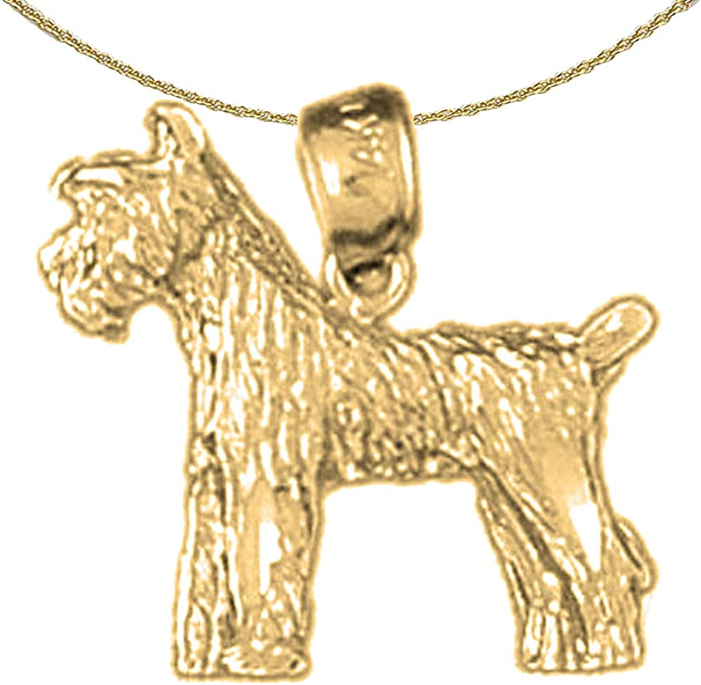Jewels Obsession Dog Necklace Rhodium-plated 925 Silver Dog Pendant with 18 Necklace