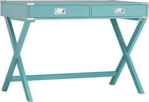 Union 5 Home X Base Wood Accent Campaign Writing Desk