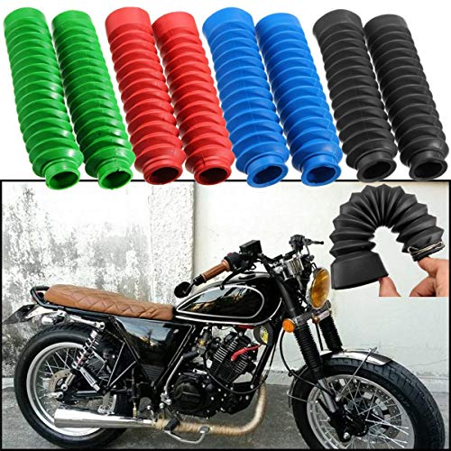 Motorcycle Front Fork Shocker Rubber Cover Gaiters Gator Boots 2pcs 250mm (blue)