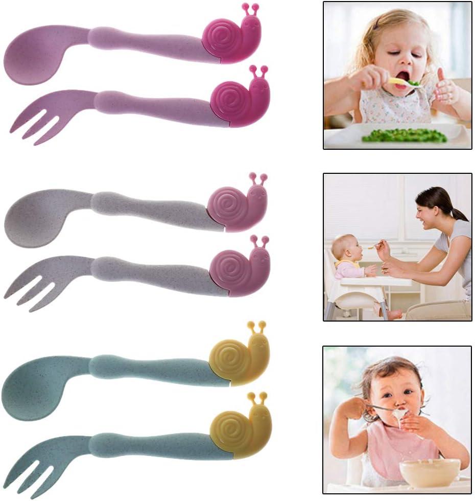 Youlin 1 Set Courb/ée Cuillere Bebe Portable Cr/éatif Vaisselle Pour Enfants